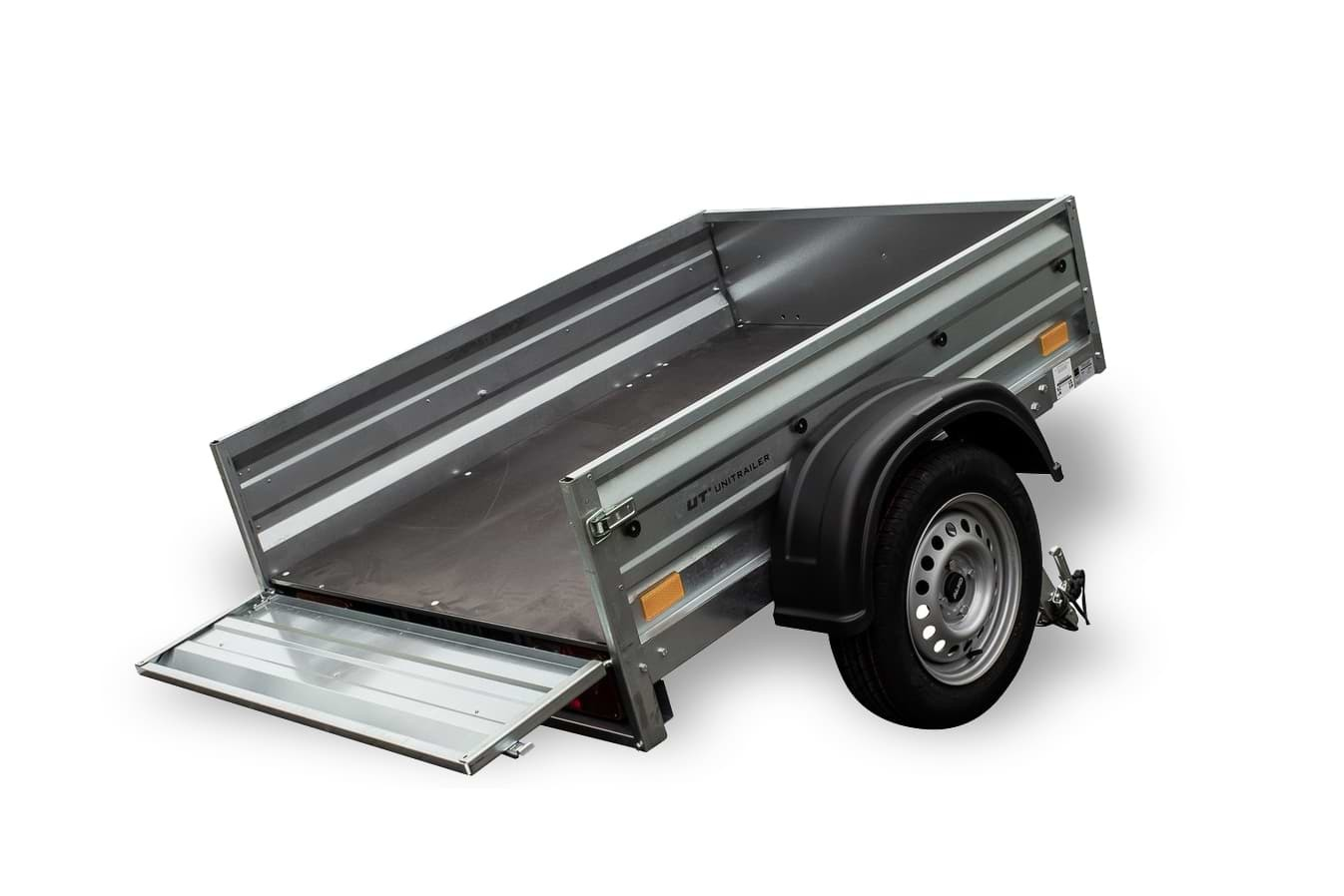Trailer foldable back panel